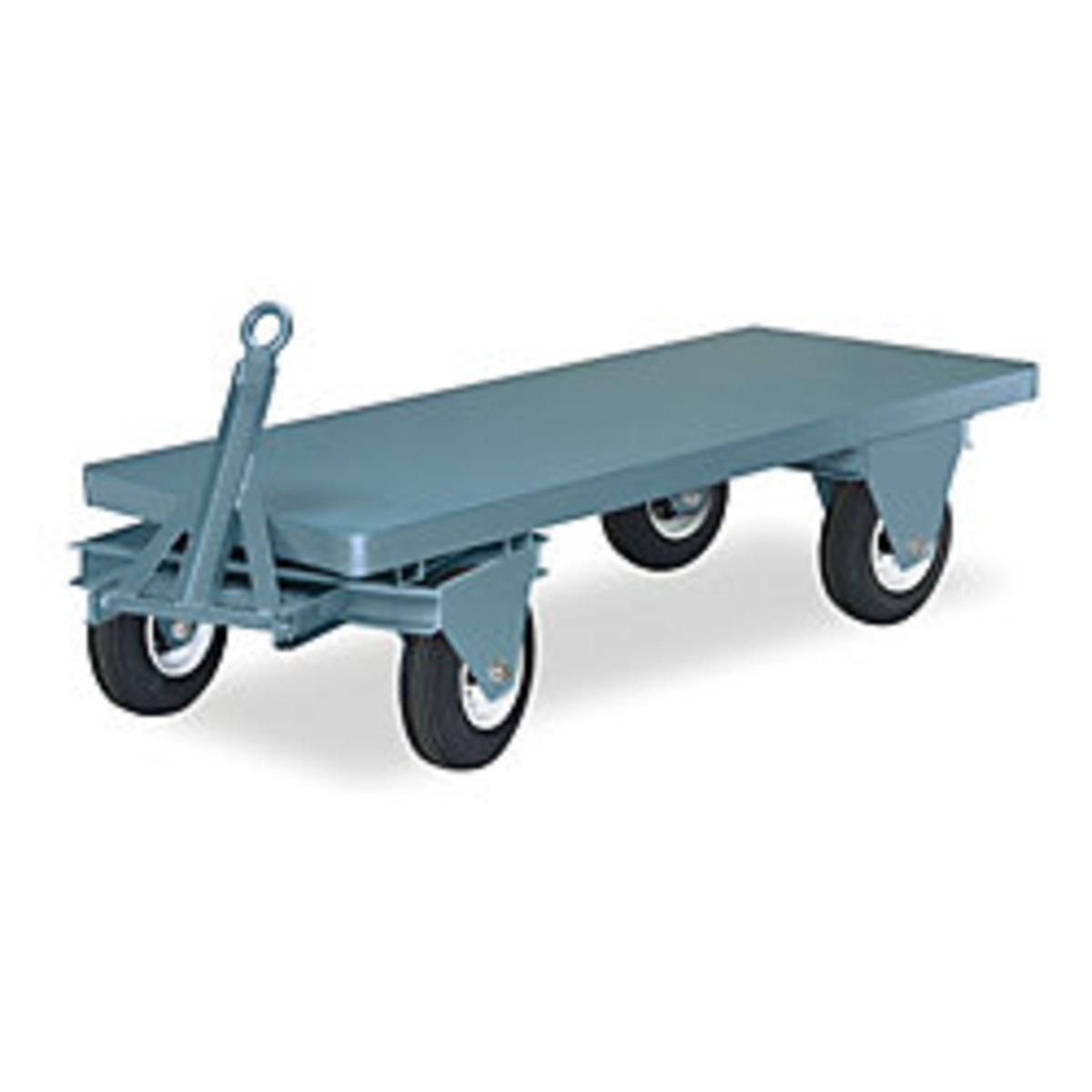 Platform Truck, Load Capacity 4500 Pounds, Deck Length 96 Inches, Deck Height 22 1/4 Inches, Deck Width 36 Inches, Platform Style Fifth Wheel Trailer, Wheel Pneumatic