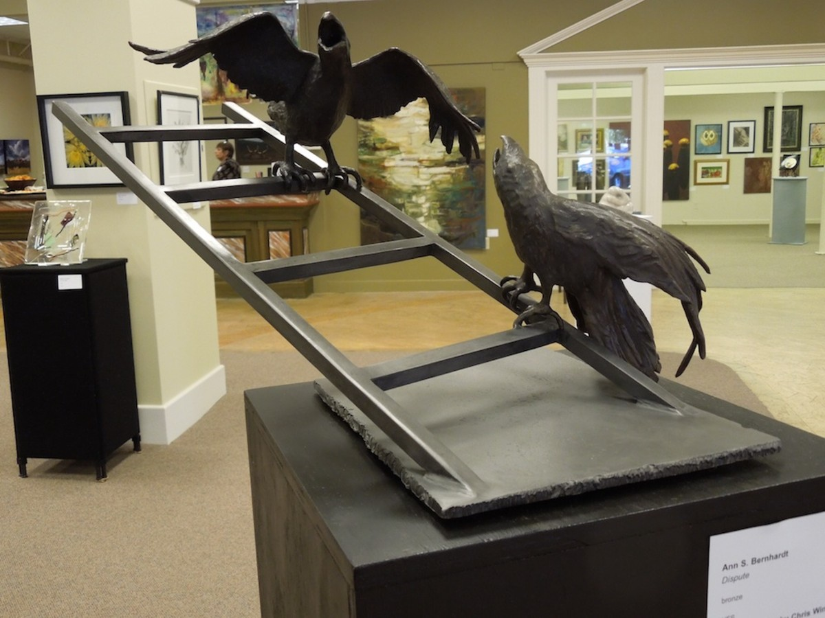 """Selected for Honorable Mention by juror Chris Winfield, """"The Dispute"""" by Ann S. Bernhardt , in bronze"""