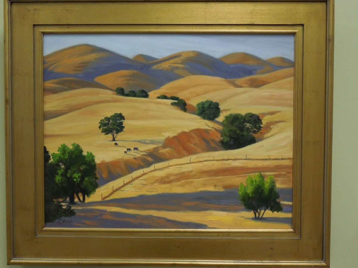 """Velvet Hills, San Miguel"" by Laurel Sheeie, oil"