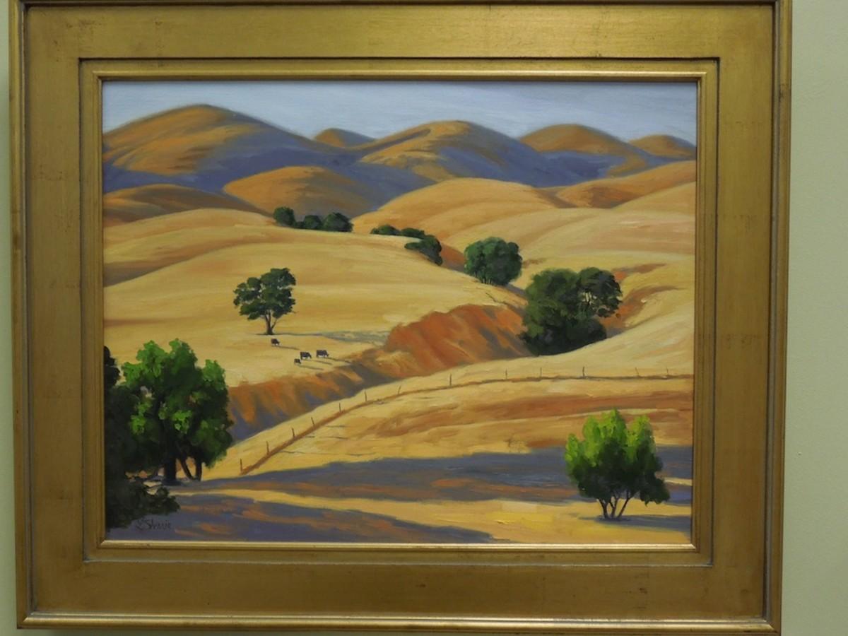 """""""Velvet Hills, San Miguel"""" by Laurel Sheeie, oil"""