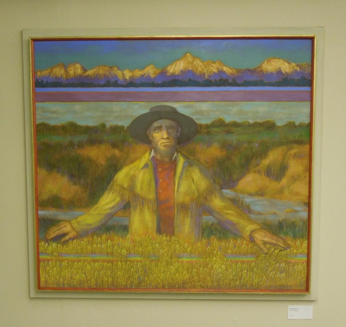 """Old Jim Bridger"" by Harold Spencer, oil"