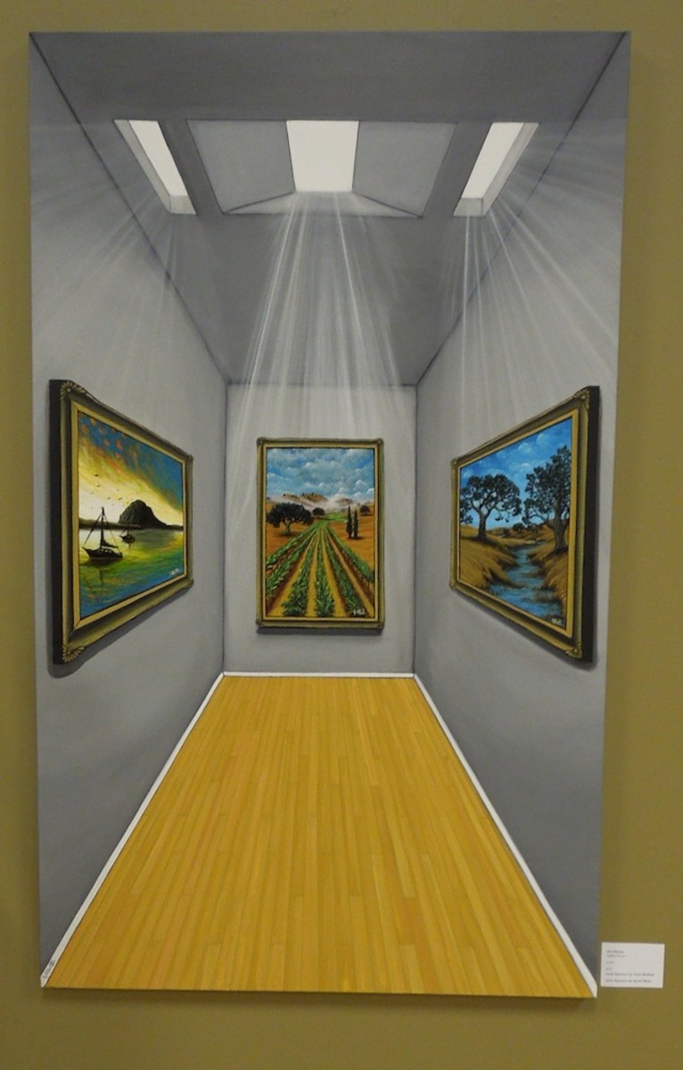 """""""Gallery Room I"""" by Jim Alberter, picked by both jurors, acrylic"""