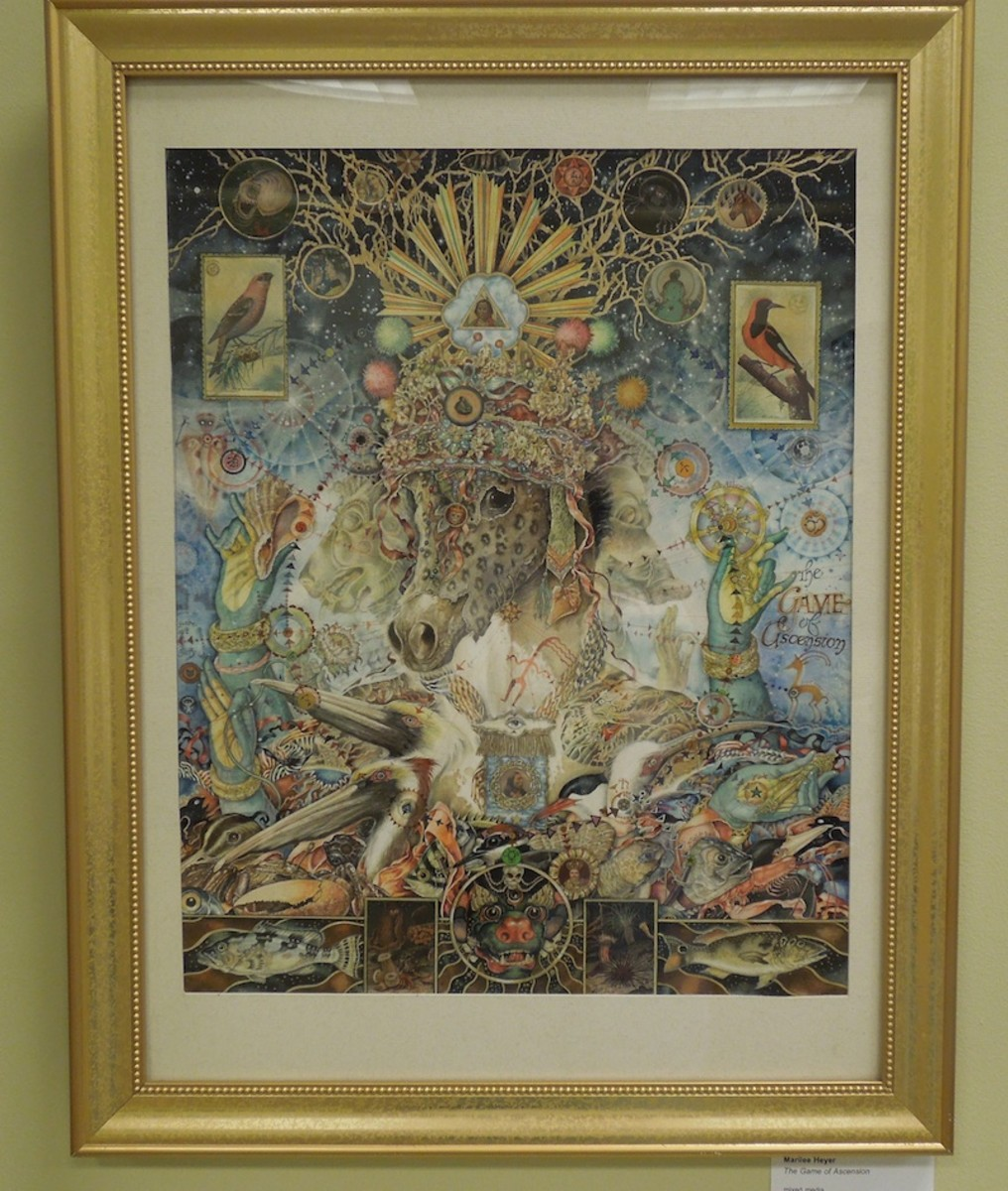 """Selected for Honorable Mention by Sylvia White, Marilee Heyer's """"Game of Ascension"""""""