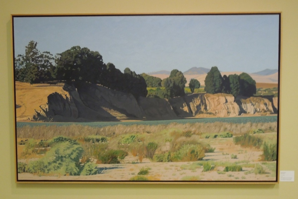 """""""Bull Canyon"""" by Bruce Everett, picked by both jurors, oil on canvas"""