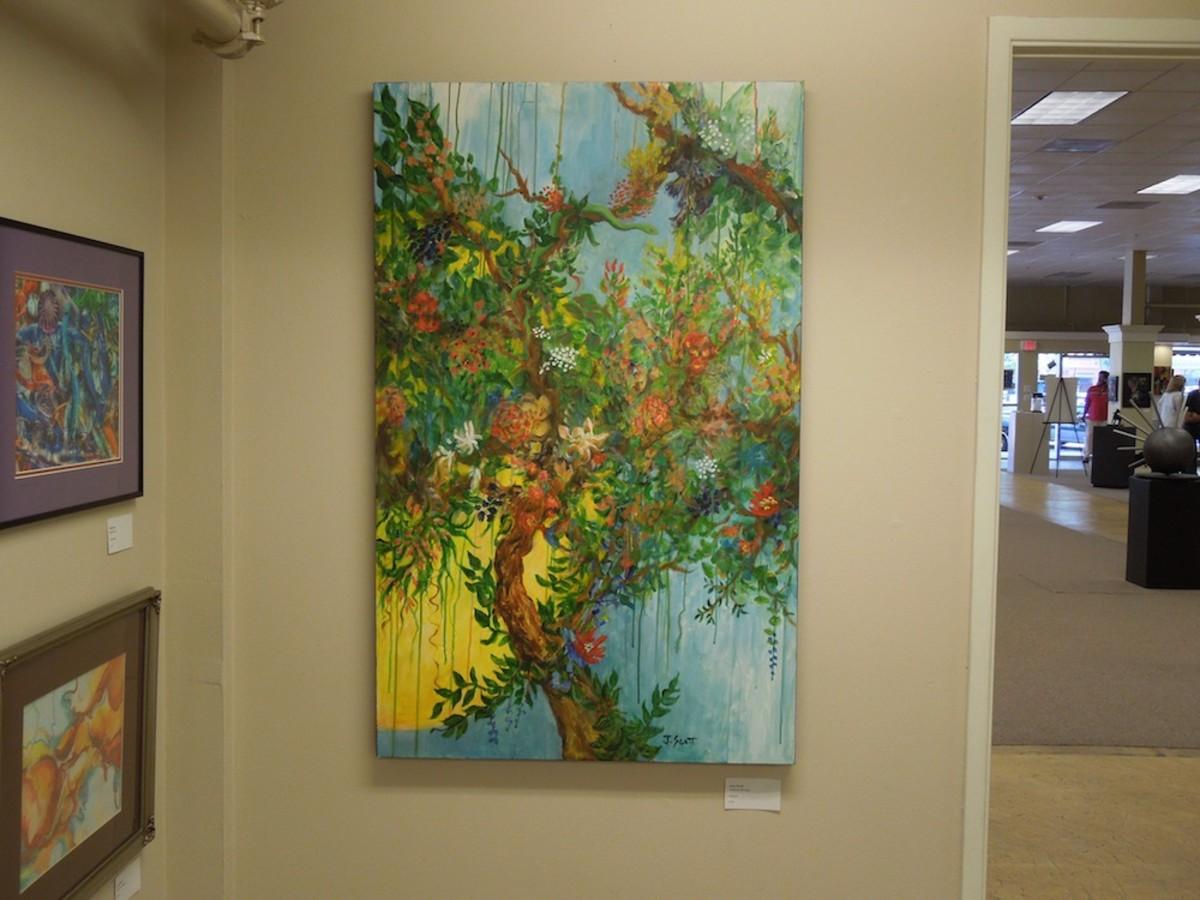 """Tropical Morning"" by Joan Scott, acrylics"