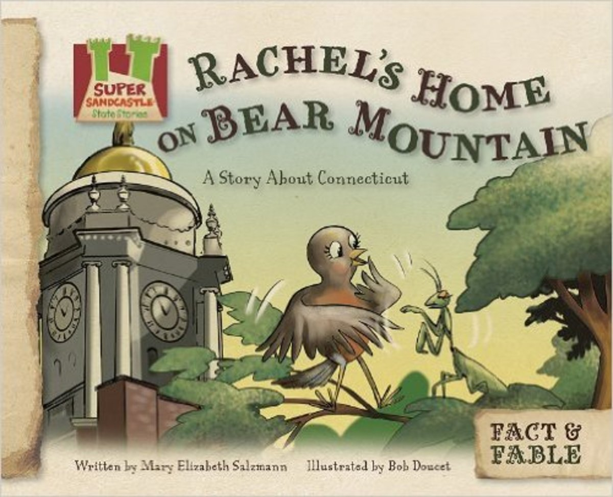 Rachel's Home on Bear Mountain: A Story About Connecticut (Fact & Fable: State Stories 3) by Mary Elizabeth Salzmann - Book images are from amazon.com.