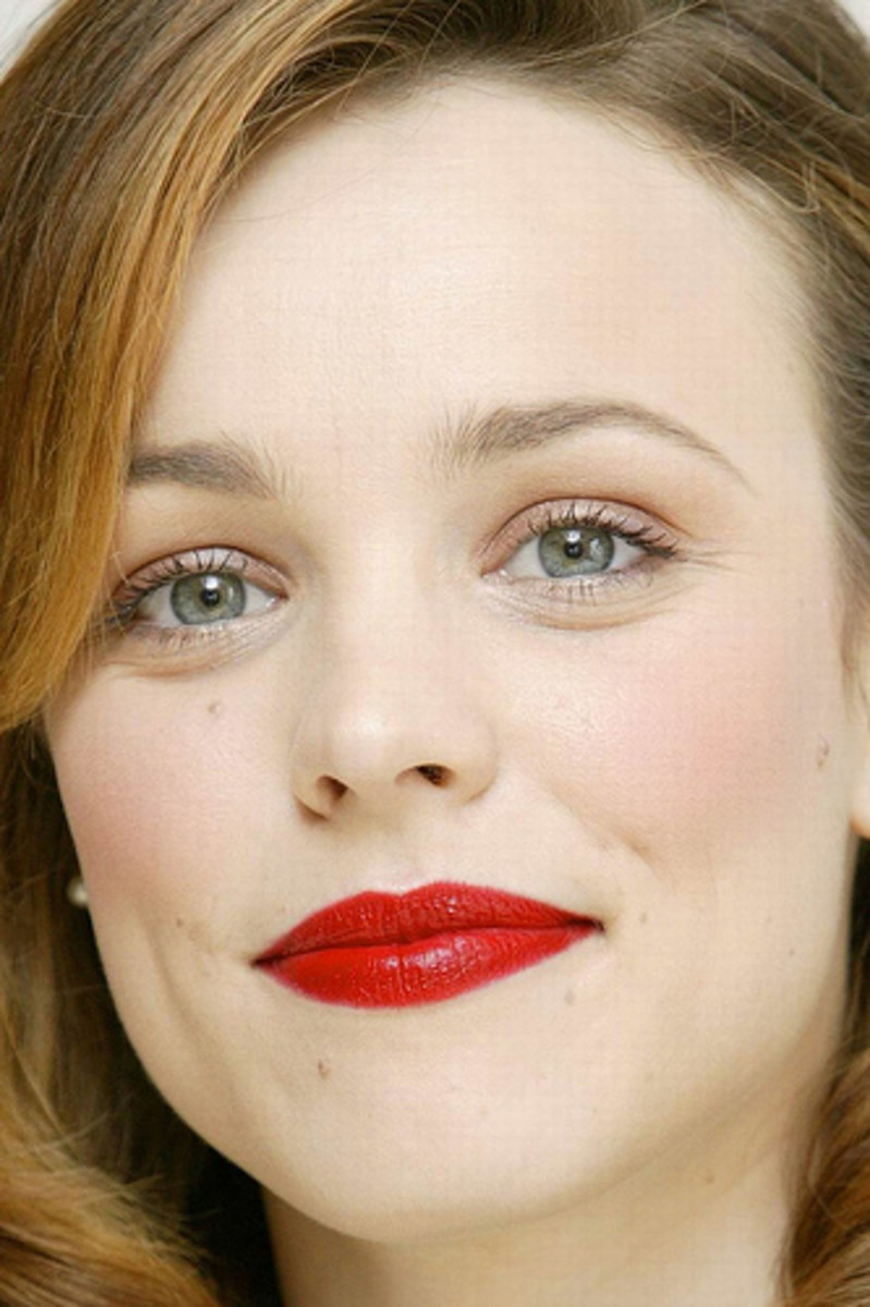 Rachel McAdams in True Red Lipstick