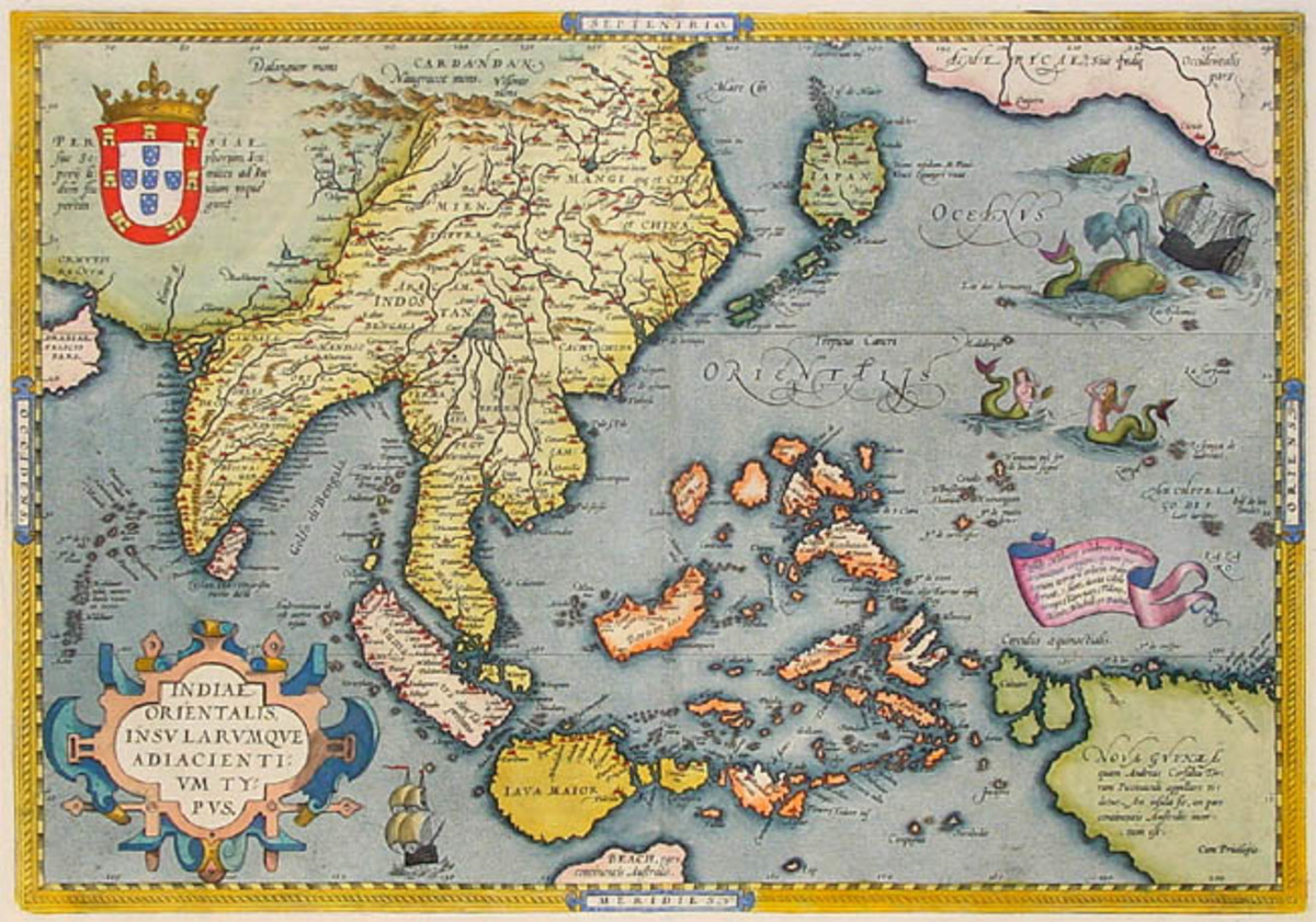 Antique map of  India and East Indies