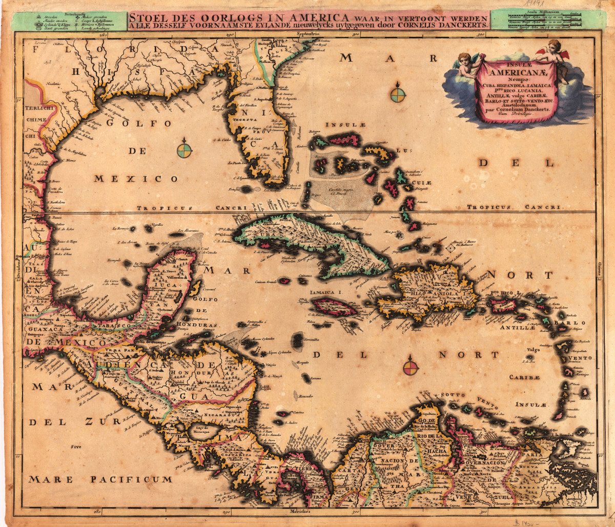 Old Map of West Indies
