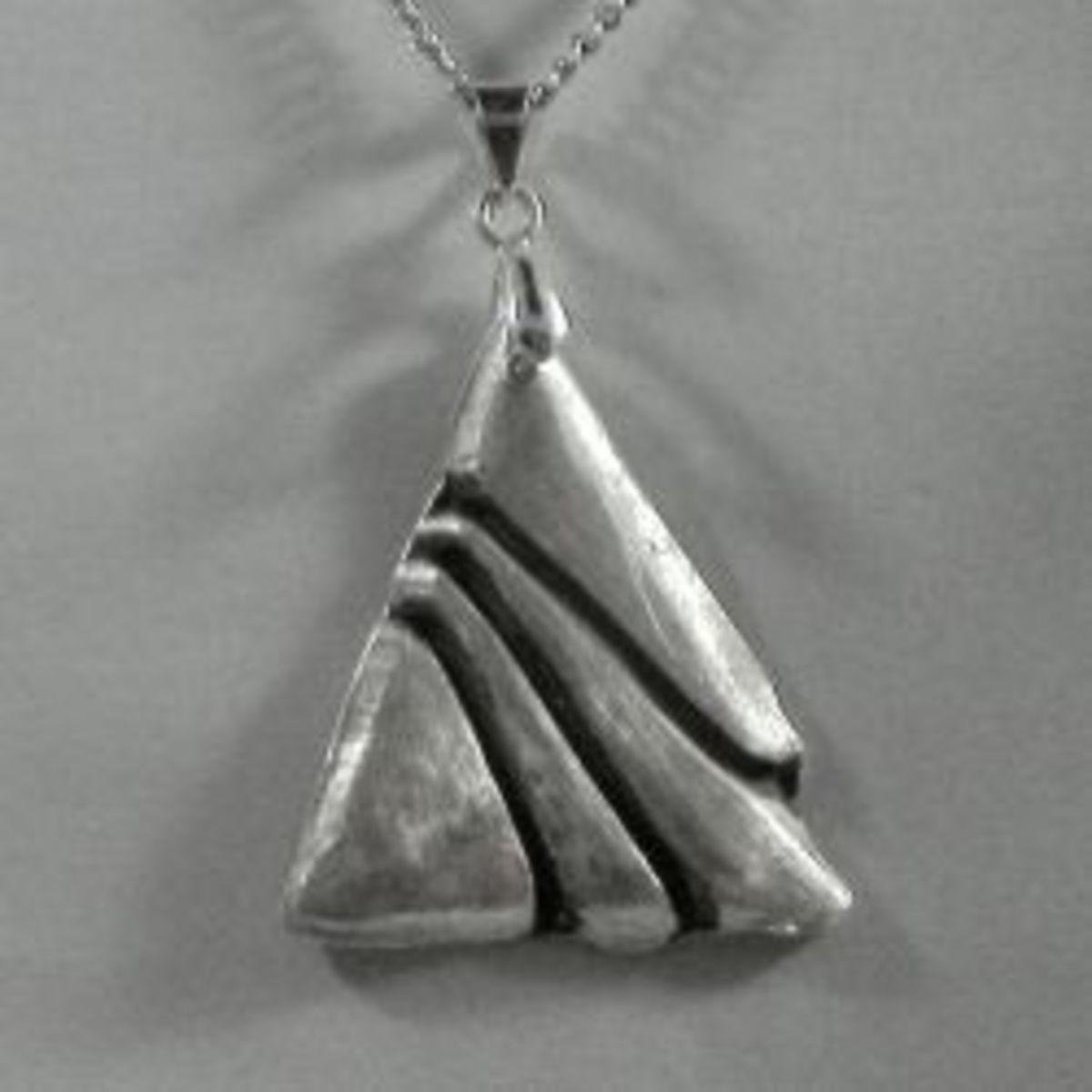 Art Deco Triangle Pendant