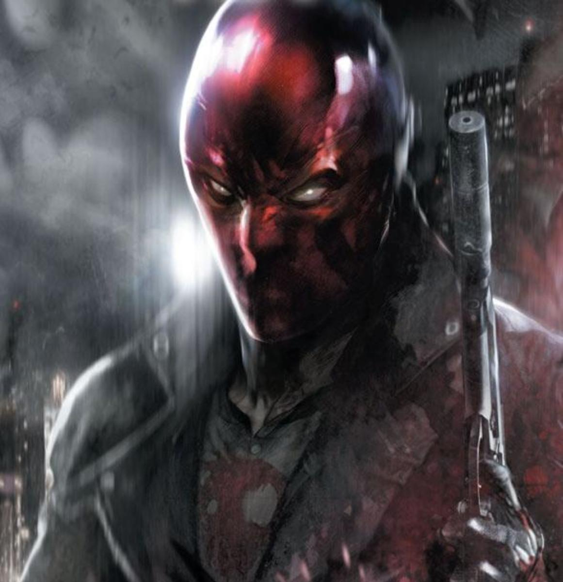 Jason Todd as his current alias Red Hood