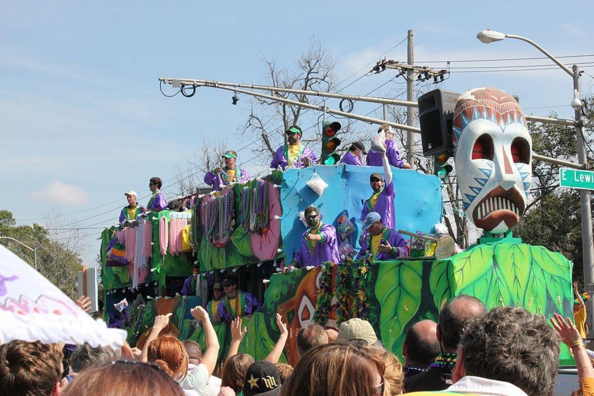 Mardi Gras Parade in Lafayette