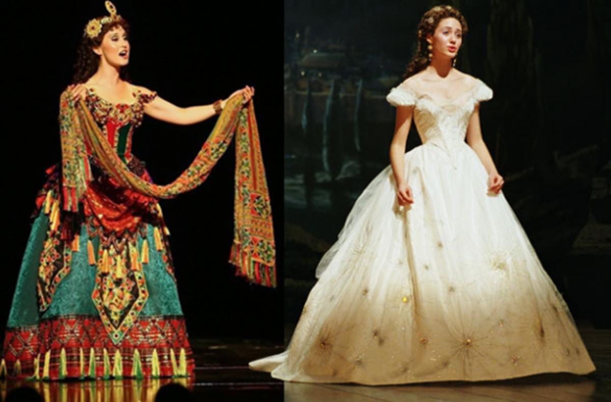Left: Stage Version. Right: Movie Version.