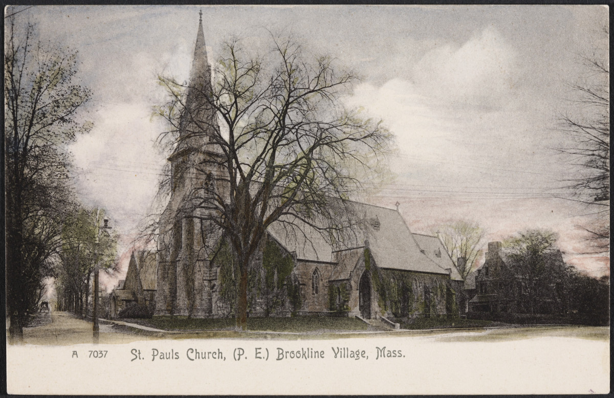 A Young Woman's Life in the 1890s: St. Paul's Church, where Aldan and Eliza married, in Brookline, MA.