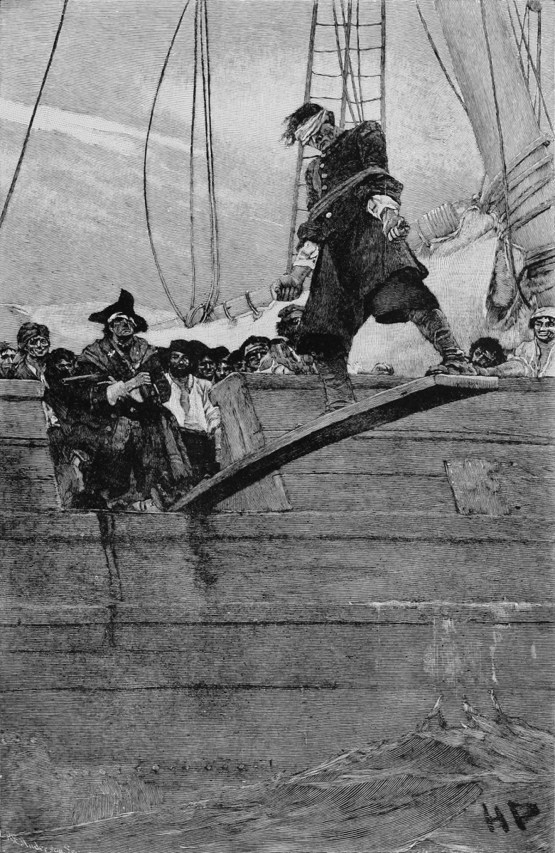 "Walking the Plank: this was originally published in Pyle, Howard (August–September 1887). ""Buccaneers and Marooners of the Spanish Main"". Harper's Magazine."
