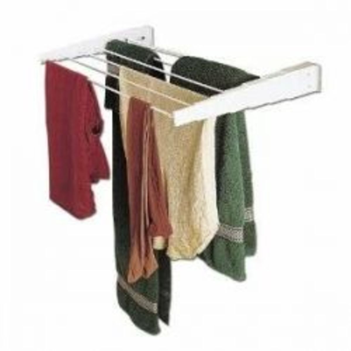 Wall-Mount Telescoping Indoor Clothes Drying Rack