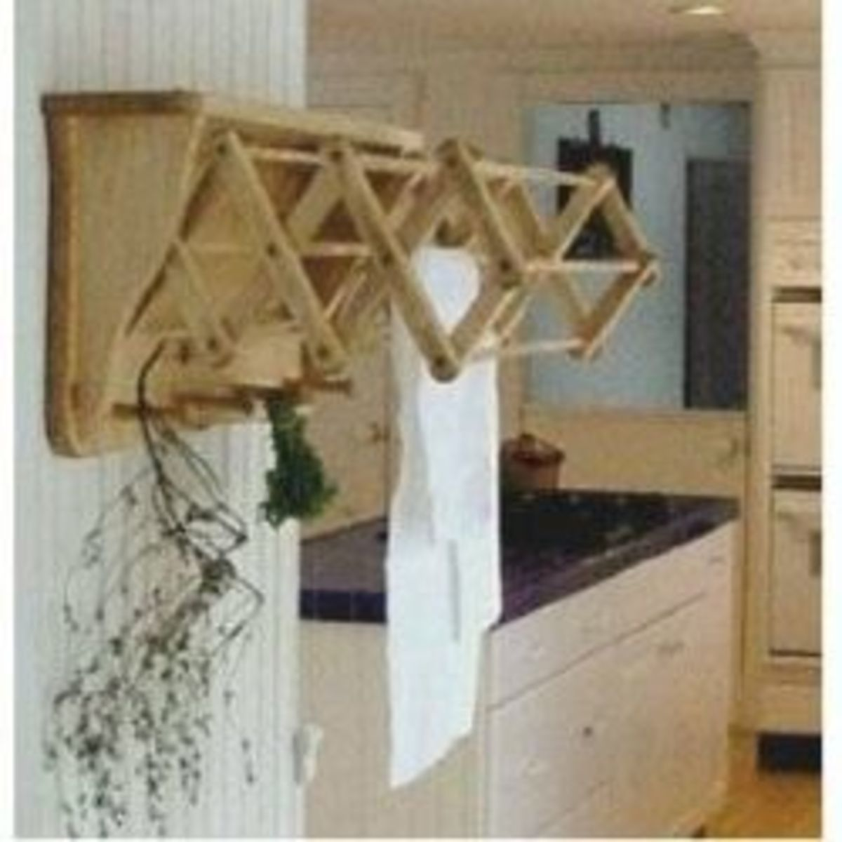 Wood Wall Mounted Cloths Drying Rack