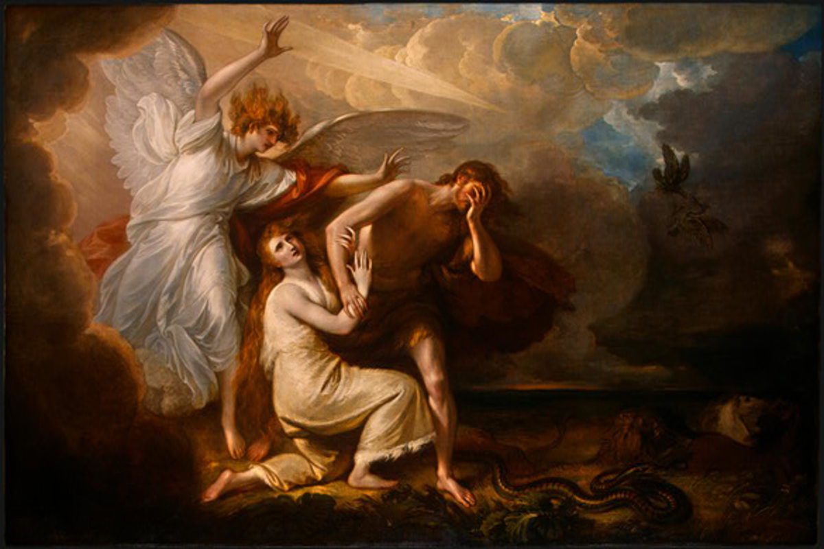 """The Expulsion Of Adam And Eve From Paradise,"" by Benjamin West, 1791"