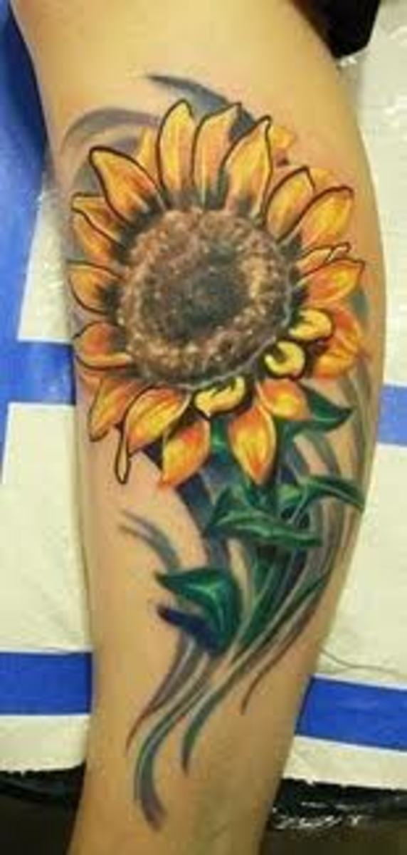 Sunflower Tattoos And Designs-Sunflower Tattoo Ideas And Meanings-Sunflower Tattoo Pictures