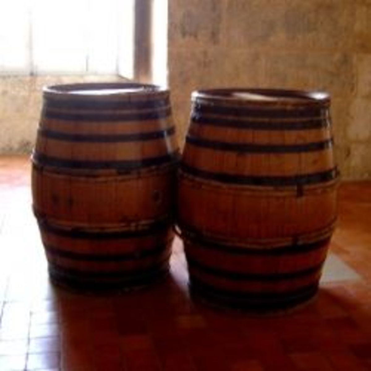 Oak Barrels in Cognac, France