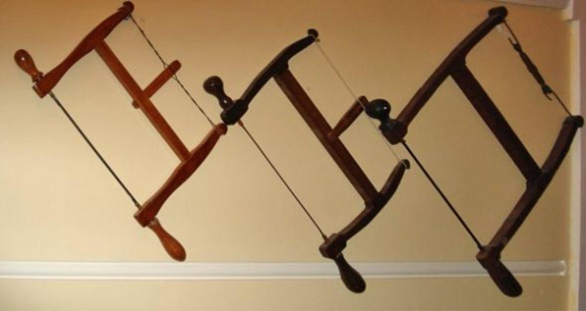 Vintage bows saws
