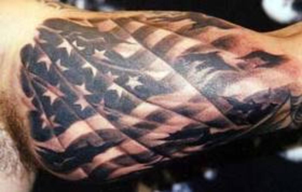American Flag Tattoo Meanings and Designs