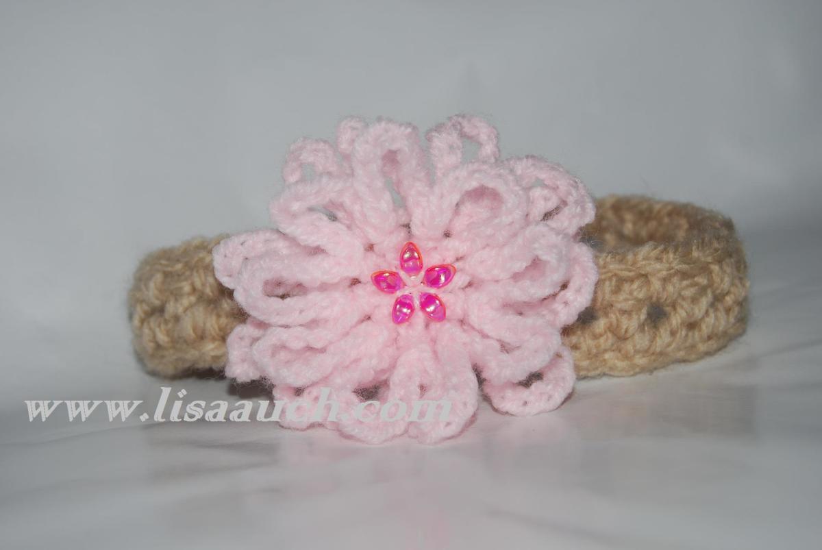 Free Crochet Pattern Baby Headband Flower : Free Crochet Patterns for Baby Headbands with Crochet ...