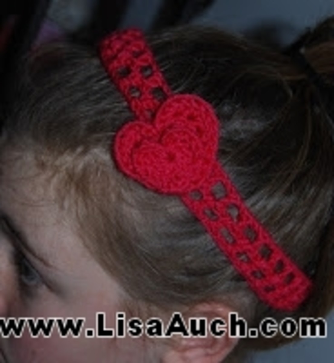 Crochet heart Easy Headband