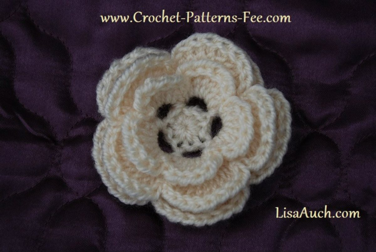 3d (5 petal Crochet Flower Pattern)