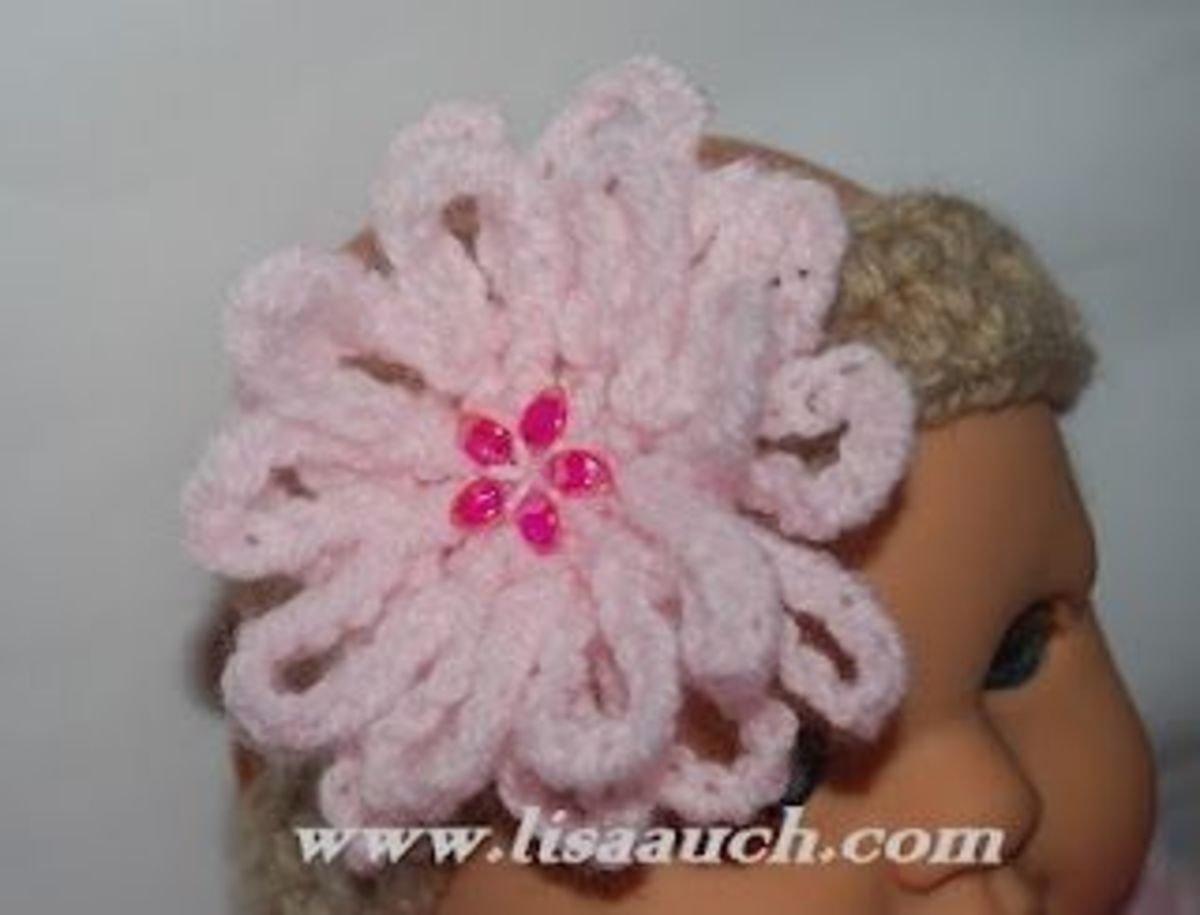 Easy Crochet Baby Headband Pattern