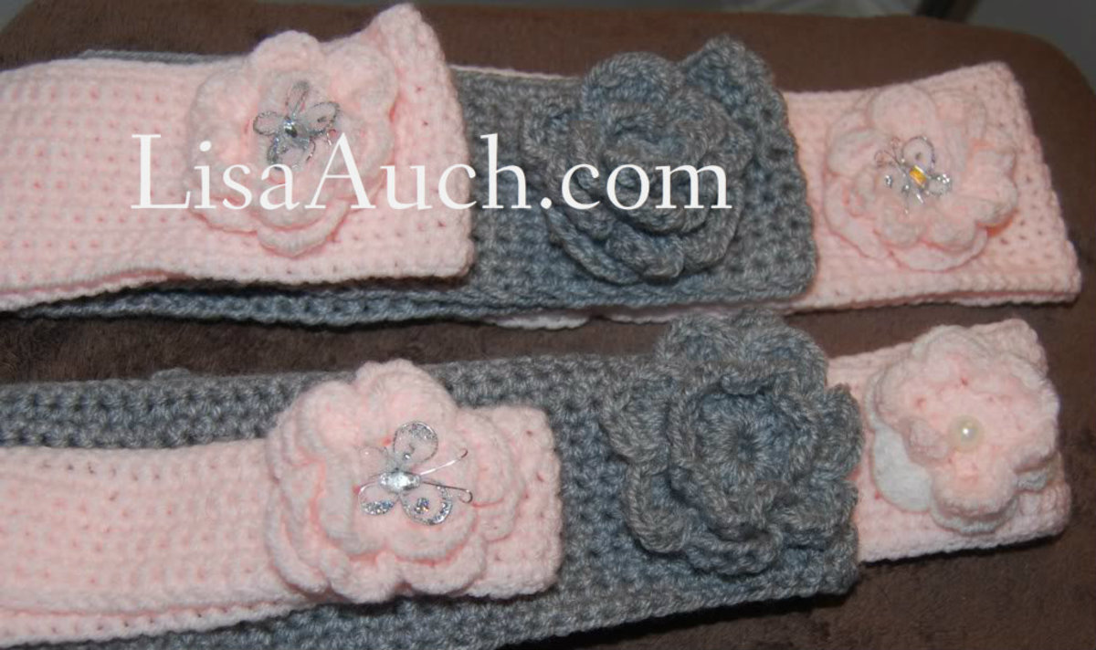 Free Crochet Patterns For Baby Headbands With Crochet Flowers Hubpages