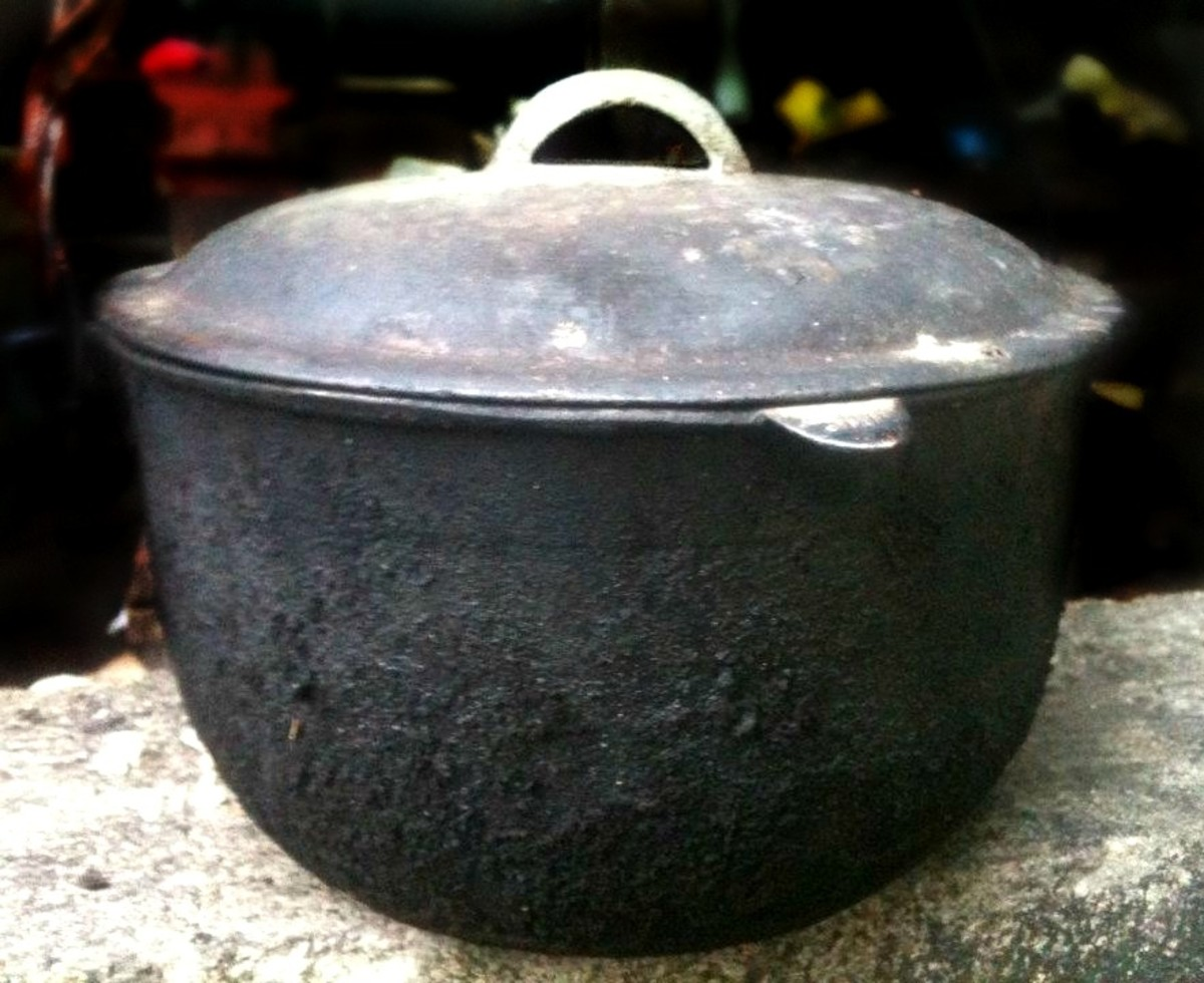 "Photo Credit: my sister Missy Torralba ""Iron-cast Dutch oven"" (kaldero)"