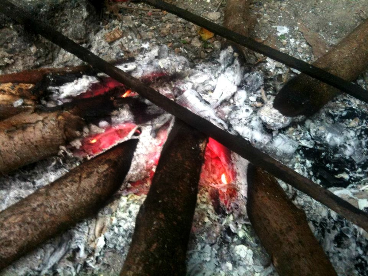 "Photo Credit: my sister Missy Torralba Thank you for taking this pic for this hub. ""Left-over burnt firewood"""