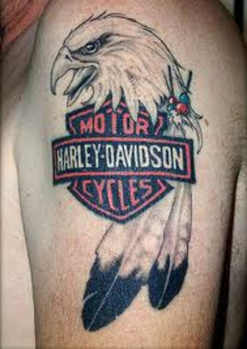 harley davidson tattoos and history harley davidson tattoo designs rh hubpages com harley eagle tattoos harley davidson eagle tattoos