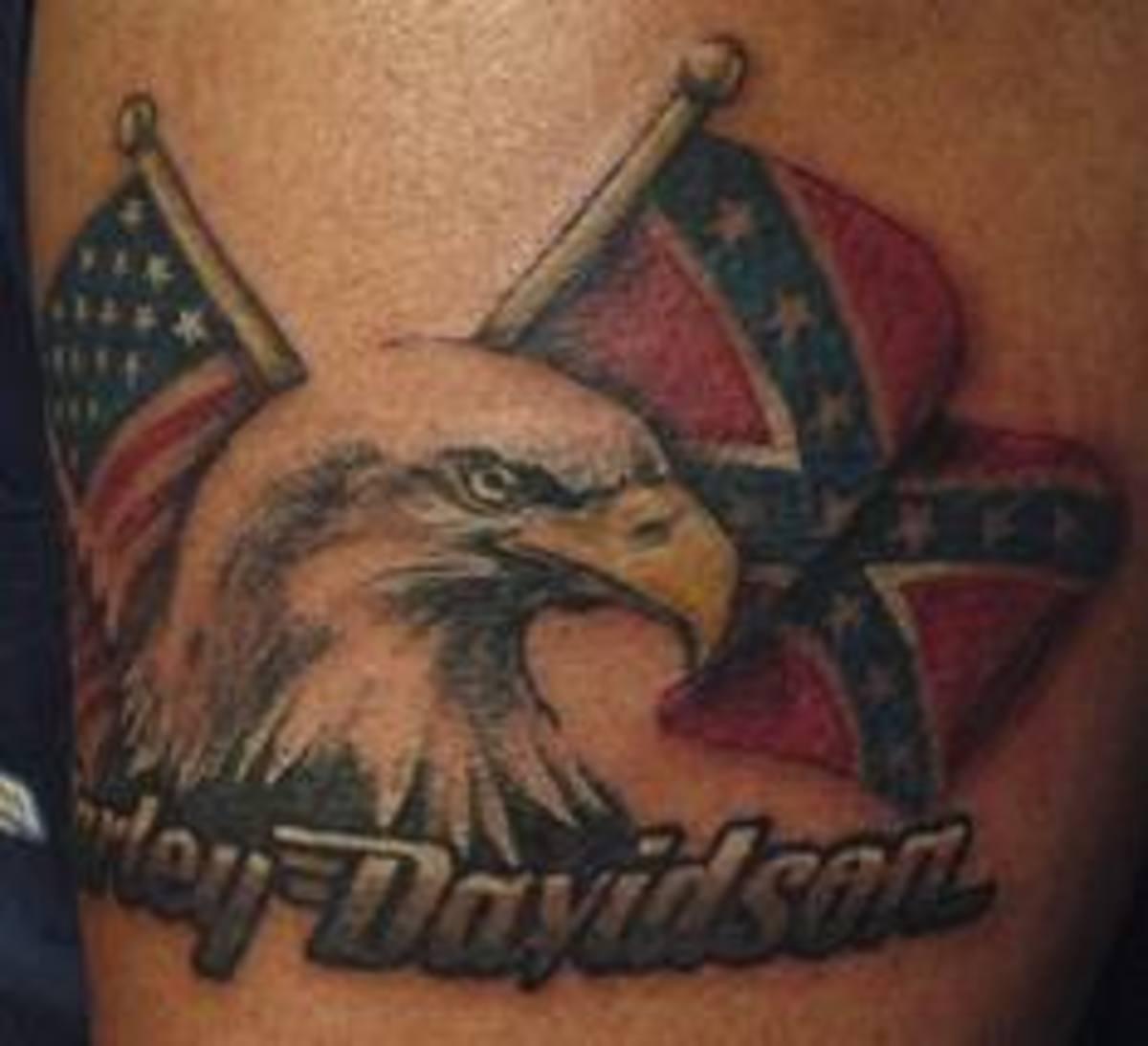Harley davidson tattoos and history harley davidson tattoo for Free harley davidson tattoo designs