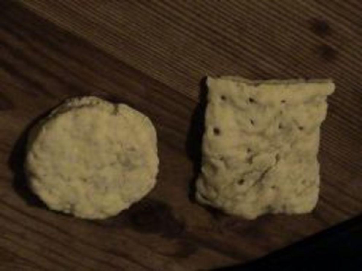 Hard tack or hard crackers.