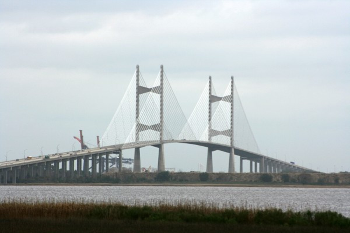 Dames Point Bridge in Jacksonville, FL claims to be the longest cable-stayed bridge in America.