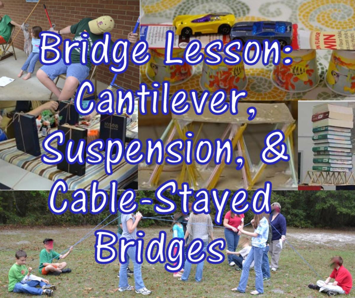 Lesson Plan on Bridges: Suspension, Cantilever, & Cable-Stayed Bridges and Bridge Building Contest