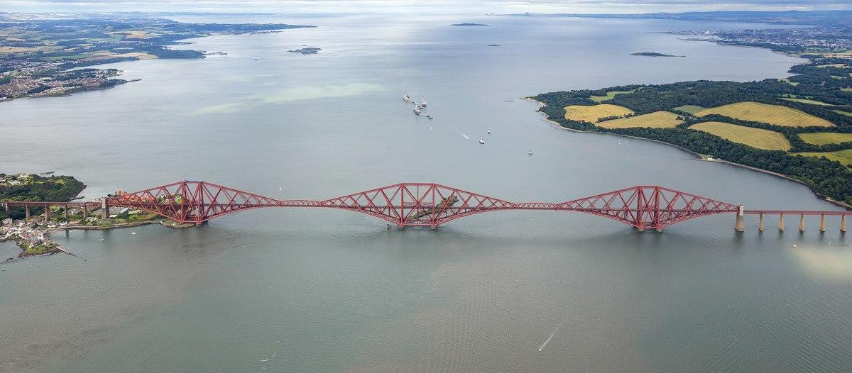 Forth Bridge over the Firth of Forth in Scotland