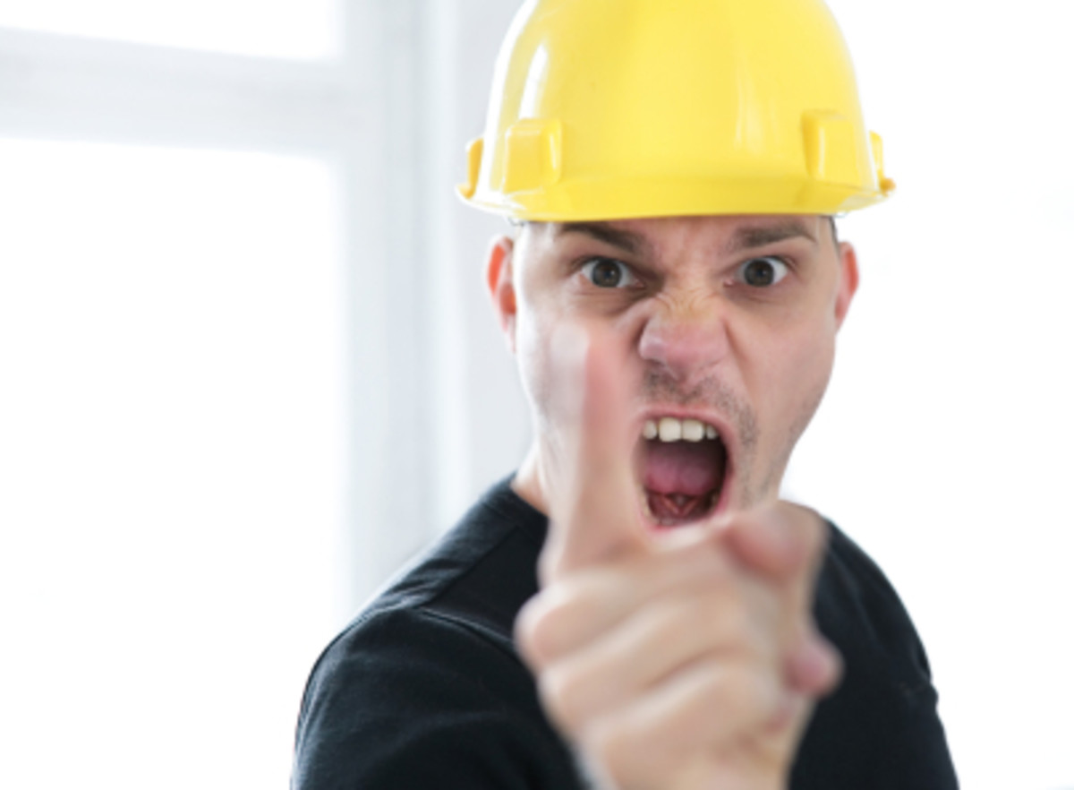 Don't hire an angry tradesman!