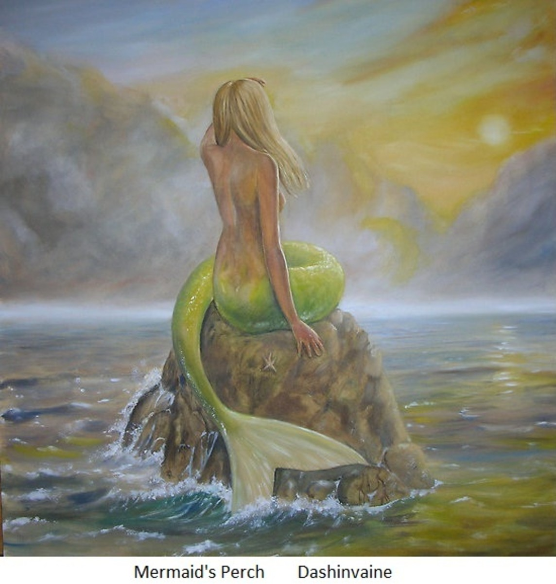 The mythical image of a mermaid, but did mermaids really have fish tails?