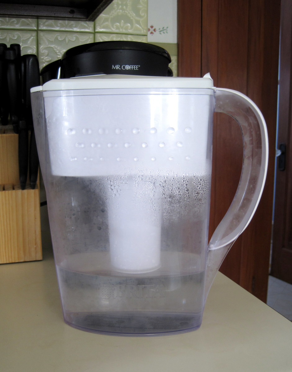 If your tap water doesn't taste great, a Brita fridge pitcher is inexpensive and easy to use.