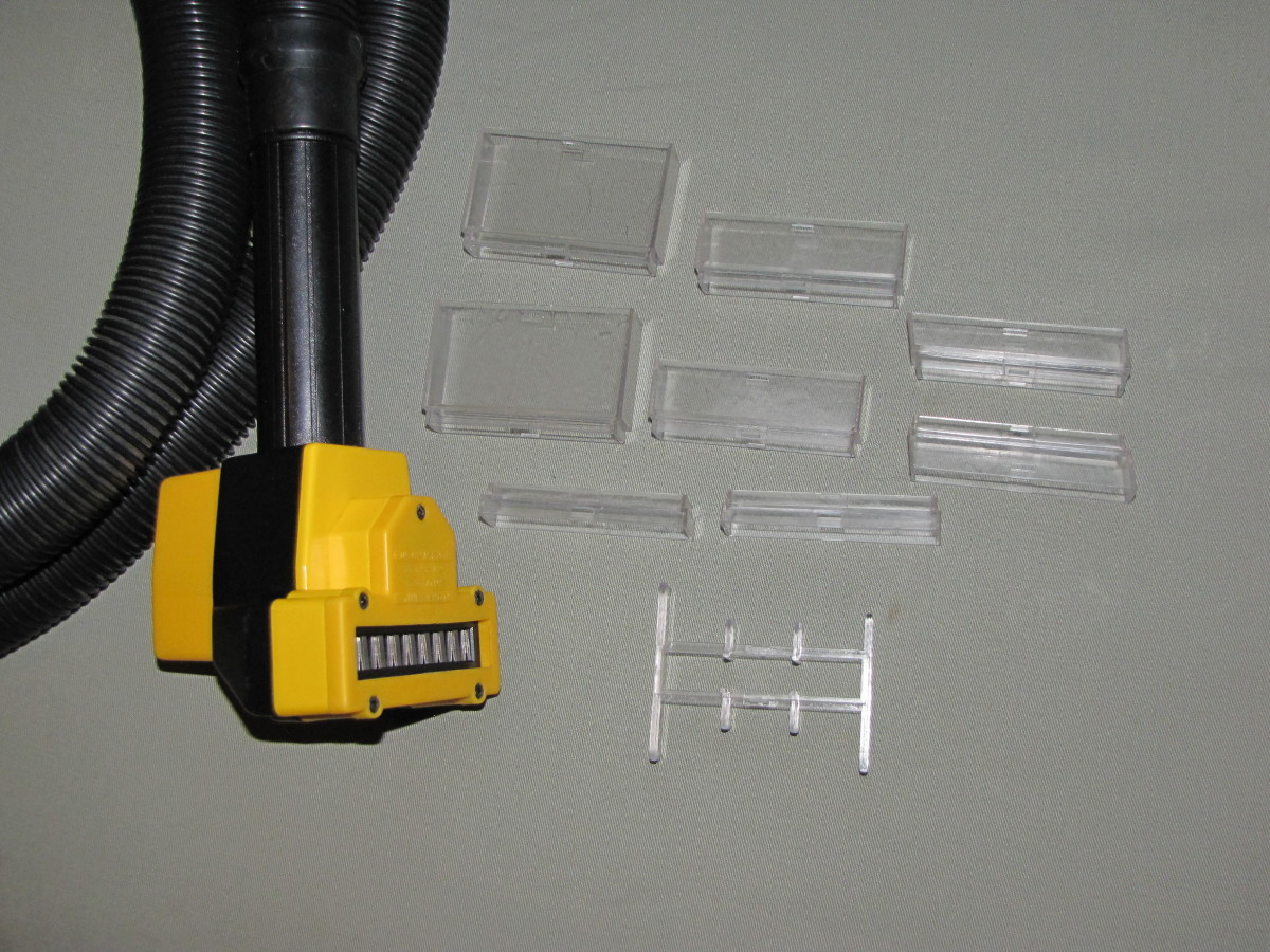 The Spacers for selecting the cut length.
