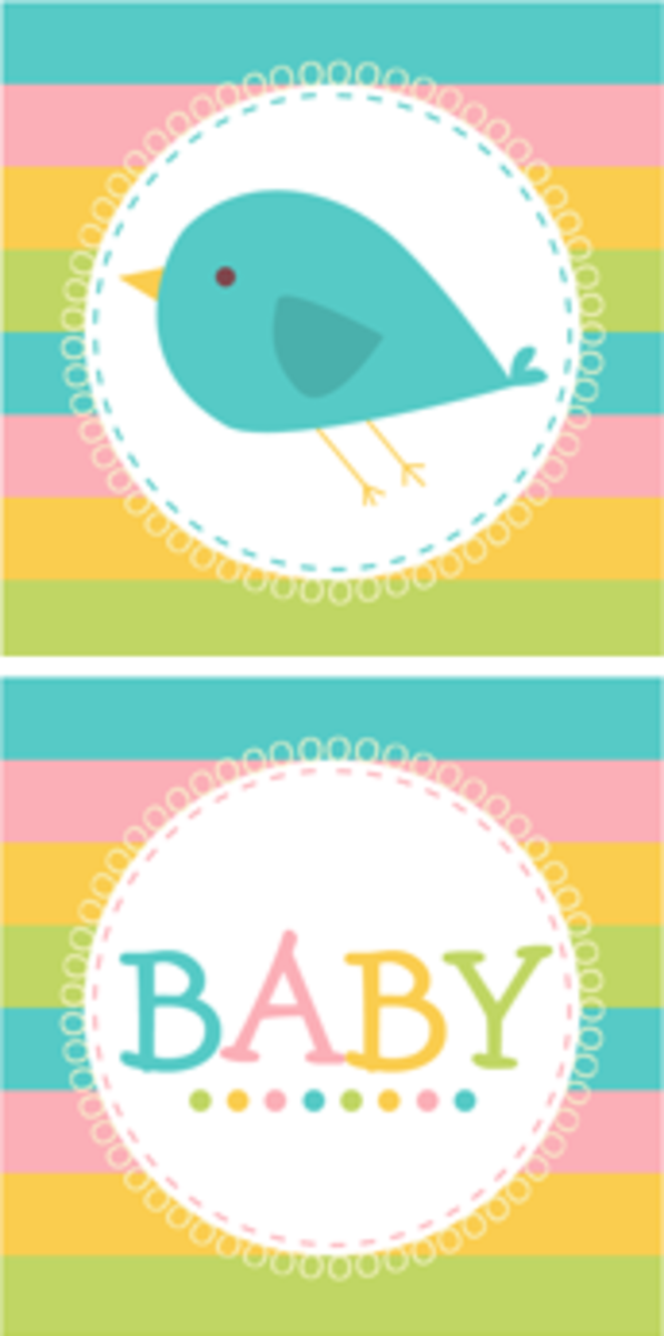 Free Printable Baby Shower Cupcake Toppers for Boy and Girl
