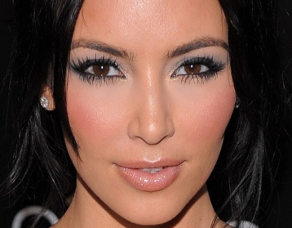 Kim Kardashian in the Best Eyeshadow Color for Brown Eyes
