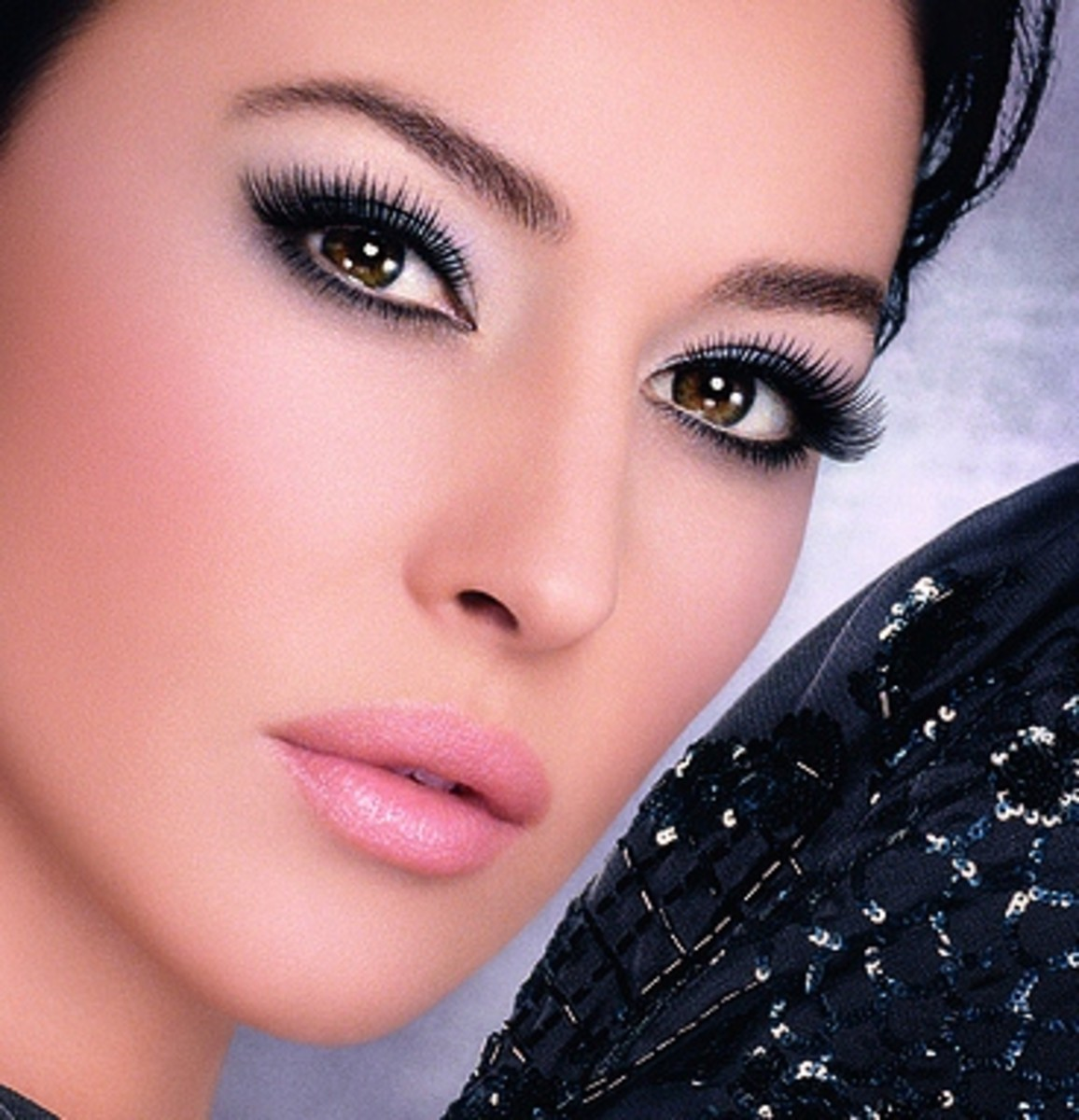 Monica Bellucci in Violet Eyeshadow