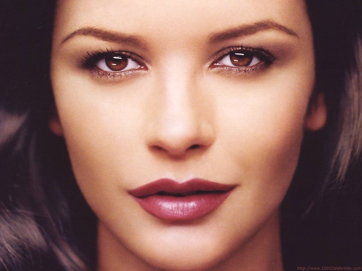 Catherine Zeta-Jones in Light Brown Eyeshadow