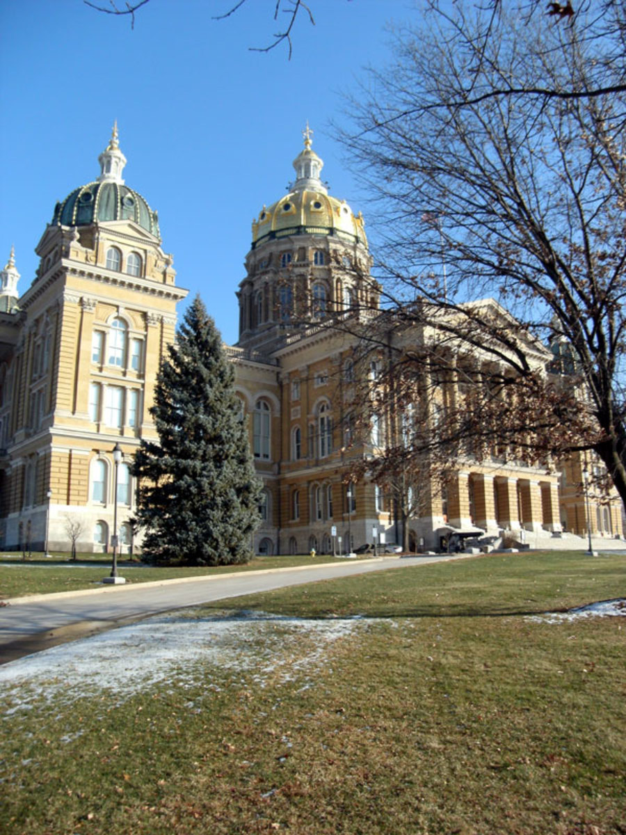 Iowa's capitol building has the largest gold dome of all state capitols.