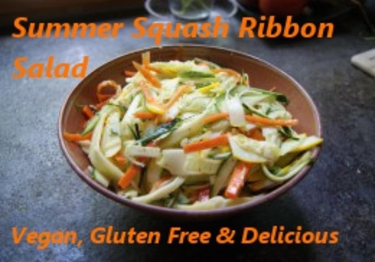 Summer Salad Recipes: Delicious Vegan Squash and Zucchini Ribbon Salad