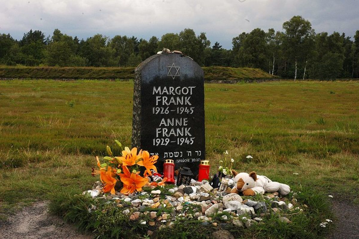 Anne Frank Memorial Bergen Belsen.